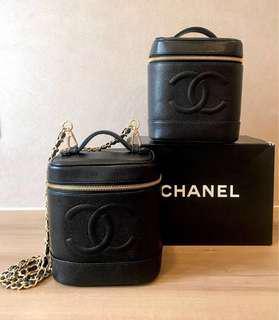 Preloved Chanel CC Logo Caviar Skin Vanity Case