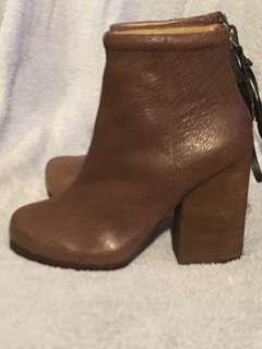 JEFFREY CAMPBELL HANDMADE HAVANA LEATHER BOOTS