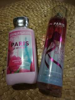 Body Lotion and Fragrance Mist