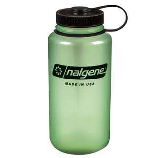 Nalgene 1000ml 1L 32OZ WIDE MOUTH Glow Bottle With Black Cap 水樽 水壺 2178-2031