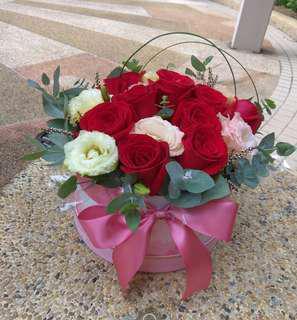 十支🌹鮮花花盒(地鐵直達包送貨)