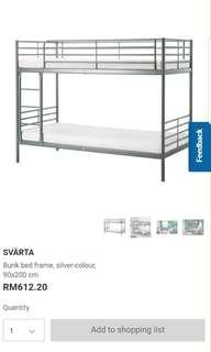 IKEA Svarta Double Decker Bed