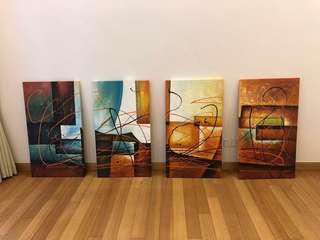 Artwork Painting four piece set
