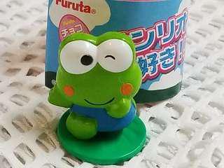 日本扭蛋 青蛙仔 Keroppi 硬膠公仔擺設