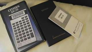 CITIZEN SR-25 計算機 Calculator
