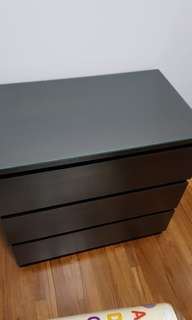 IKEA dark brown 3 layers cabinet