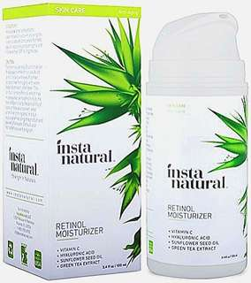 InstaNatural Retinol Vitamin A Cream with Hyaluronic Acid + Vitamin C Anti-Aging (100 ml)