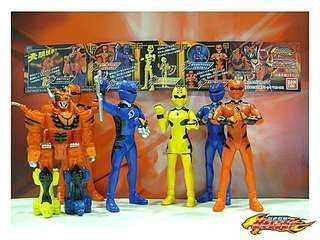 全新 一套4隻 獸拳戰隊 可動 扭蛋