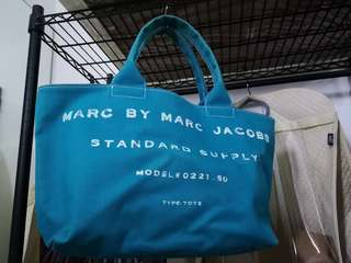 Preloved Marc by Marc Jacobs Canvas Tote Bag (Turquoise)