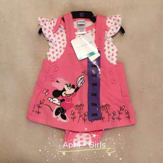 全新美國購入$79 Disney Baby Girl Dress Two pieces Pink Cute Little Dress 迪士尼小女孩短裙