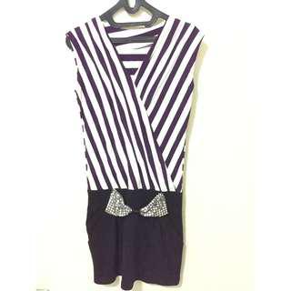 Stripe Bow Dress