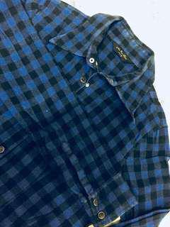 🚚 NET 藍黑格子襯衫
