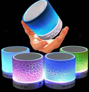 🚚 Classical mini bluetooth speaker Led with Stereo sound with enhanced safety features