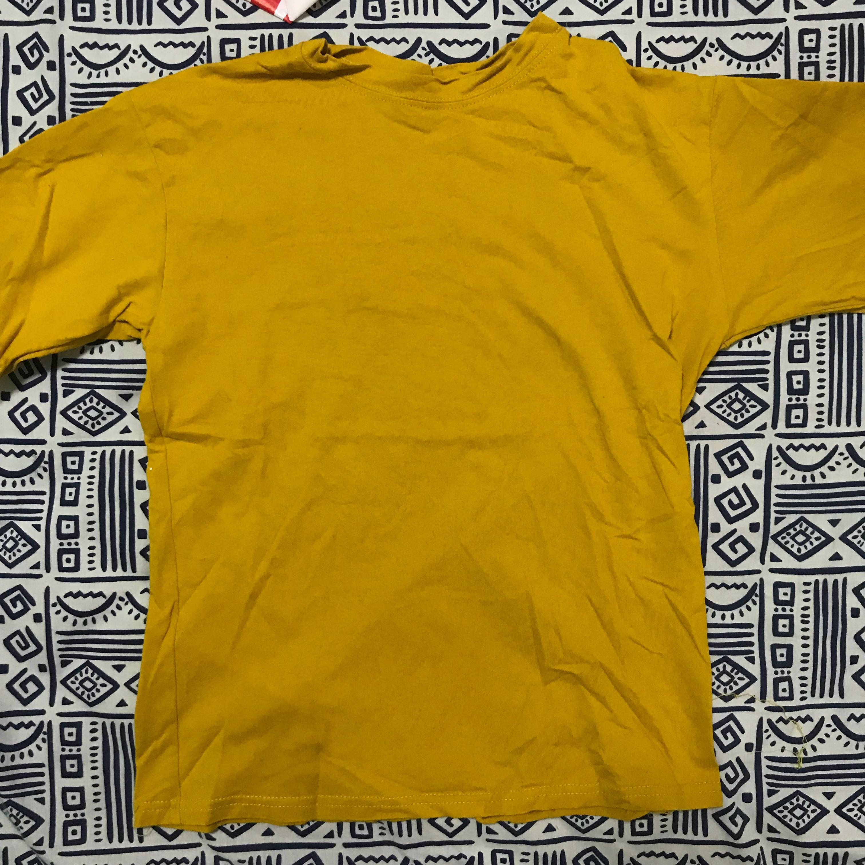 072fd54431 🌙 mustard yellow tee, Women's Fashion, Clothes, Tops on Carousell