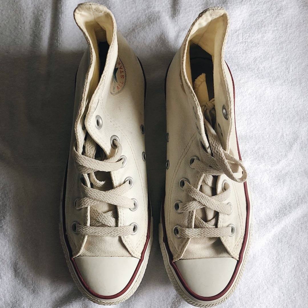 3a5348ec4607 🔥 Preloved Converse High Cut Sneakers (Off-White)