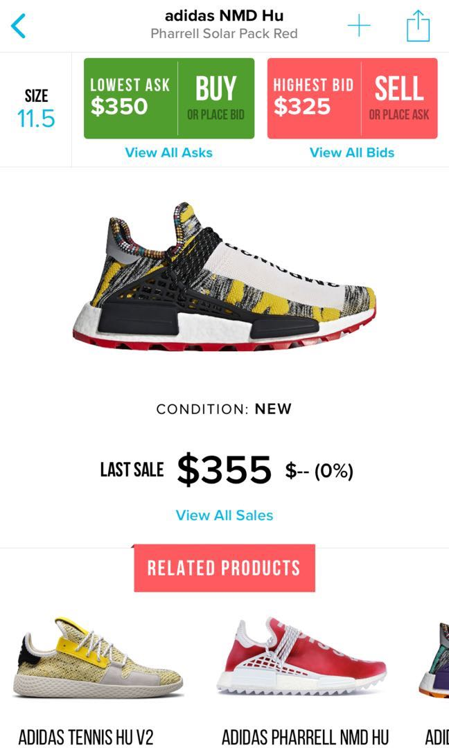 Adidas Hu Nmd Afro Solar Pack Red