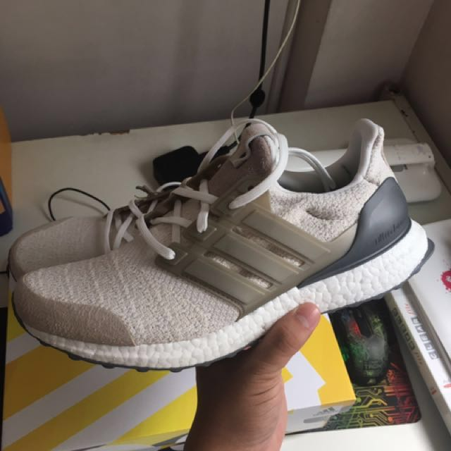 51a0a2dc6 Adidas Ultra Boost Lux Sneakersnstuff x Social Status Vintage White ...