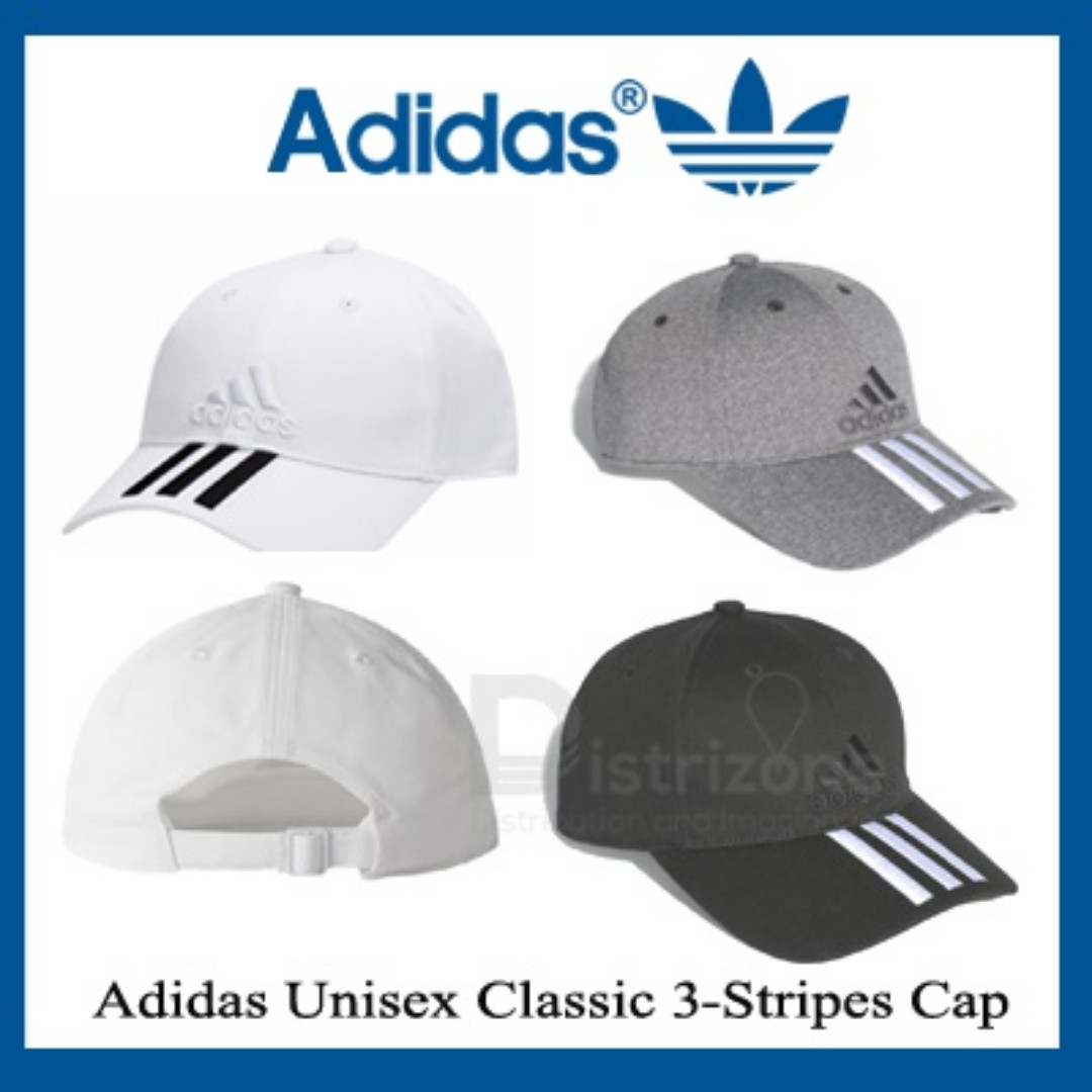 Adidas Unisex Classic 3-Stripes Cap Navy   White   Black 774a7495e004