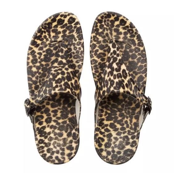 a942817b0dc Authentic Fitflop SuperJelly Leopard Sandals
