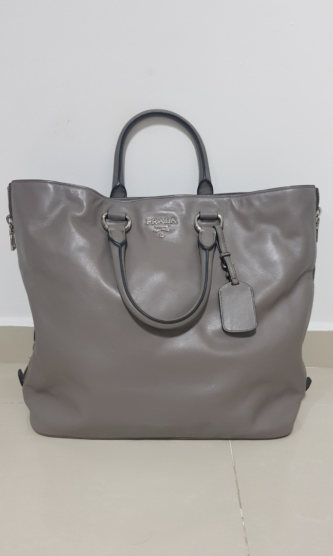 1ee2fd131d Authentic Prada soft calf leather shoulder bag
