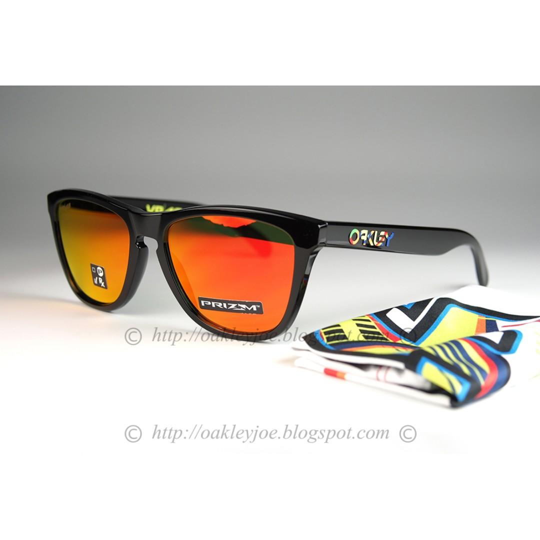BNIB Oakley Frogskins Valentino Rossi moss + prizm ruby iridium ... 9a1796e1eda9