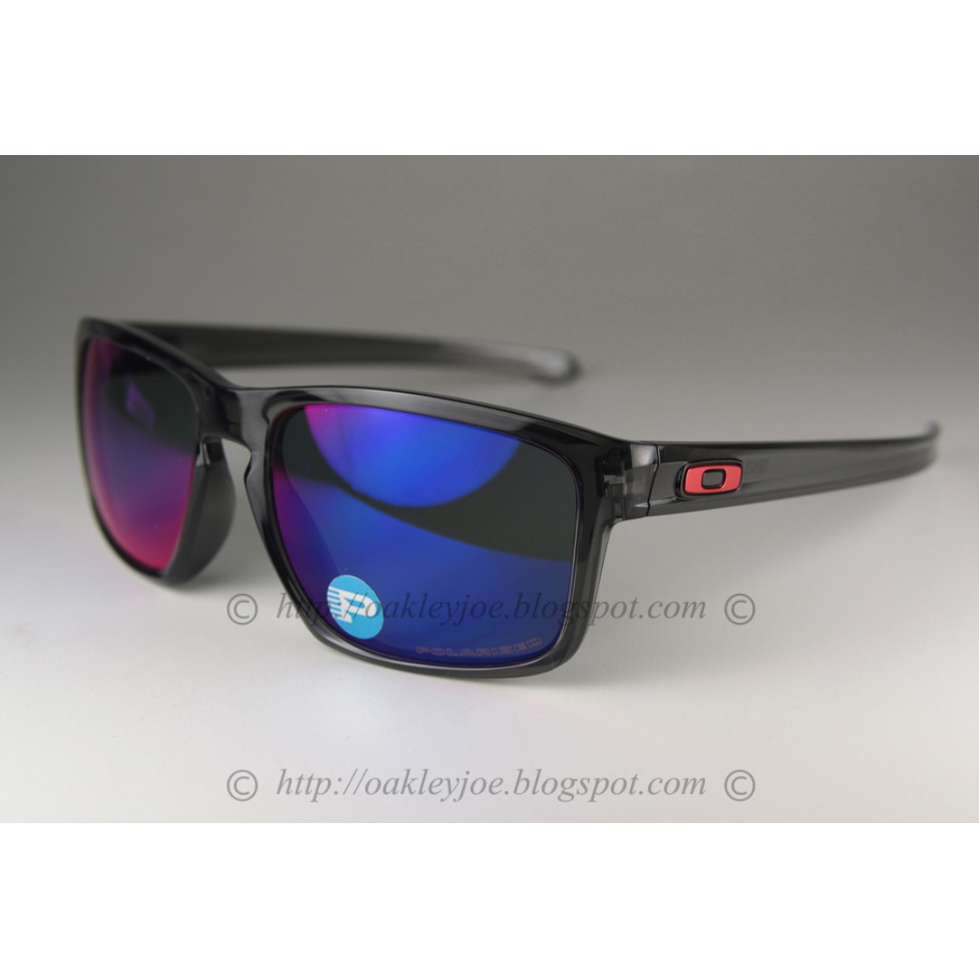 728a22a111 BINB Oakley Sliver Asian Fit grey smoke + positive red polarized oo9269-06  sunglass shades