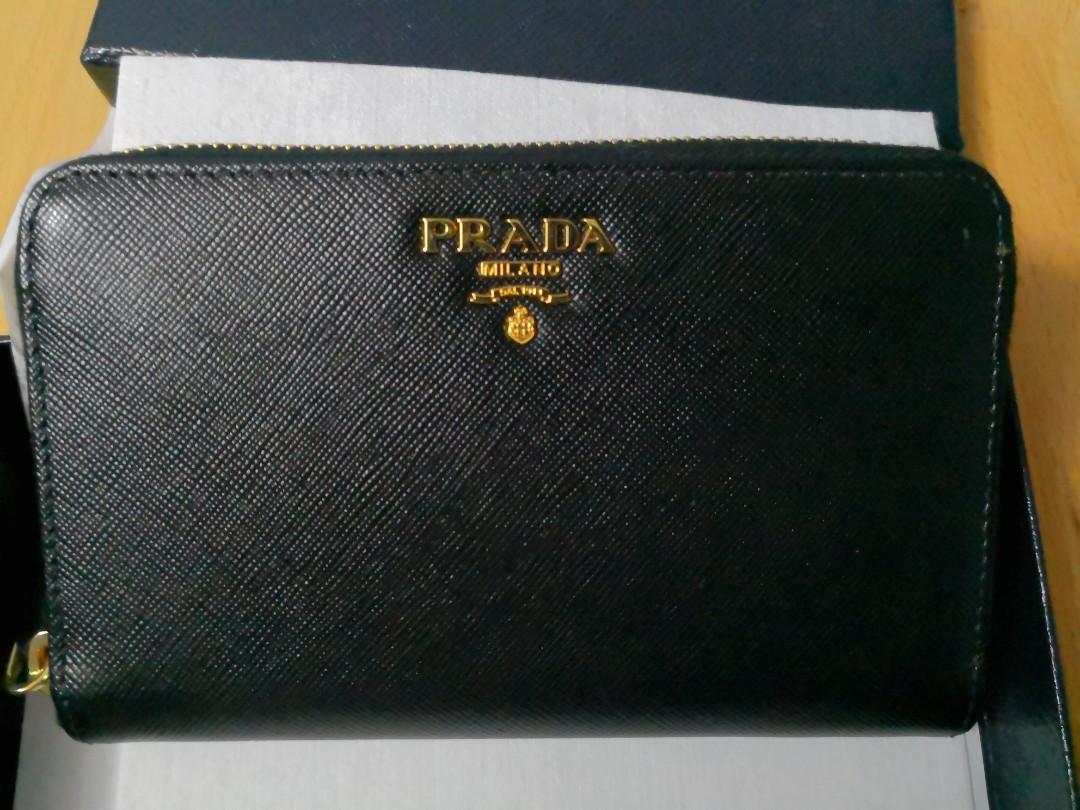 51a24d78ba4 ... where can i buy bnib prada saffiano metal portafoglio lampo 1m1157  womens fashion bags wallets wallets