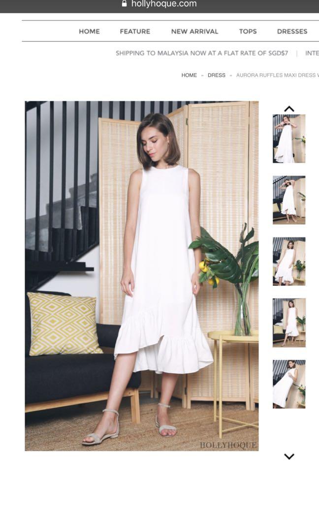 46a1b7d85b BNWT Aurora Ruffles Maxi Dress (White
