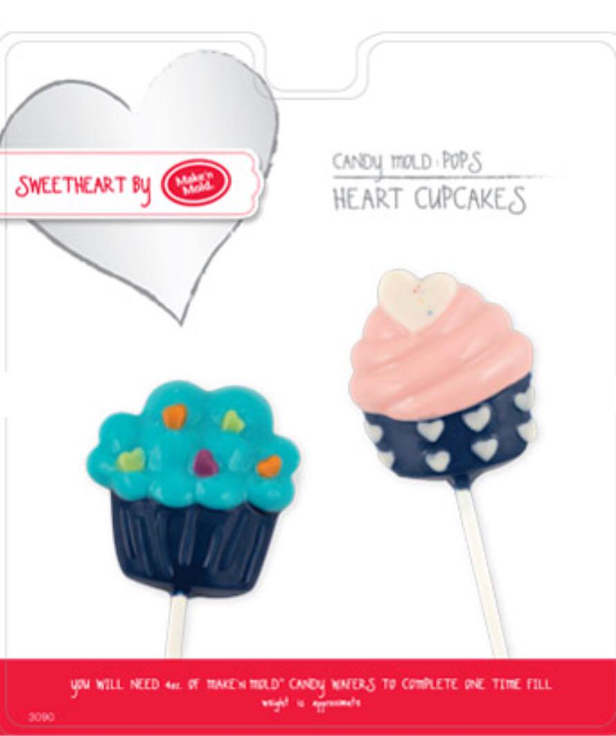 Brand New HEART CUPCAKE & WEDDING CAKE POP CANDY MOLDS - MAKE'N MOLD