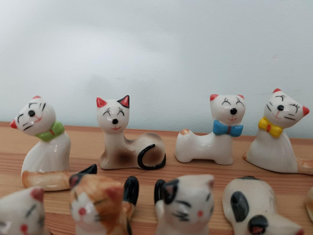 Cat ceramic figurines