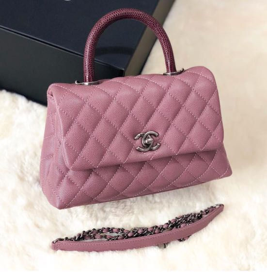 70ed49e59597a7 Chanel coco handle pink, Luxury, Bags & Wallets, Handbags on Carousell