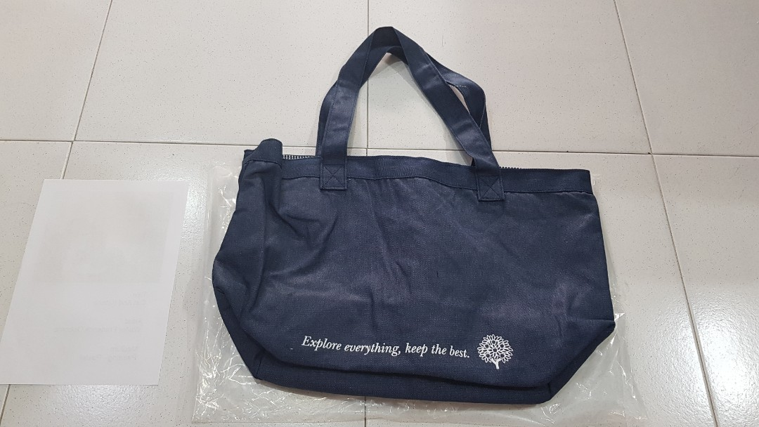 crabtree and Evelyn denim tote bag .. cooler shopping db43341f3e6d8