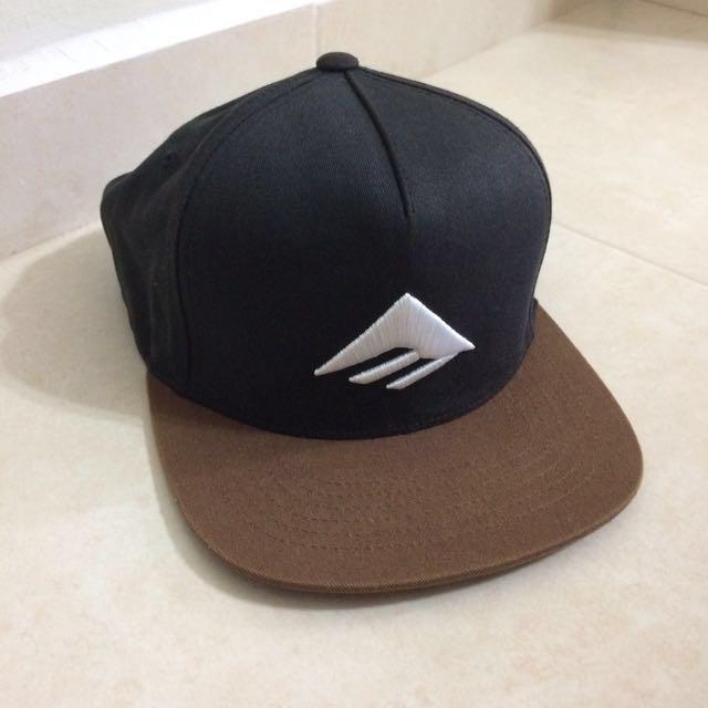e9dbb14b0 Emerica Triangle Snapback Cap Black / Brown, Men's Fashion ...