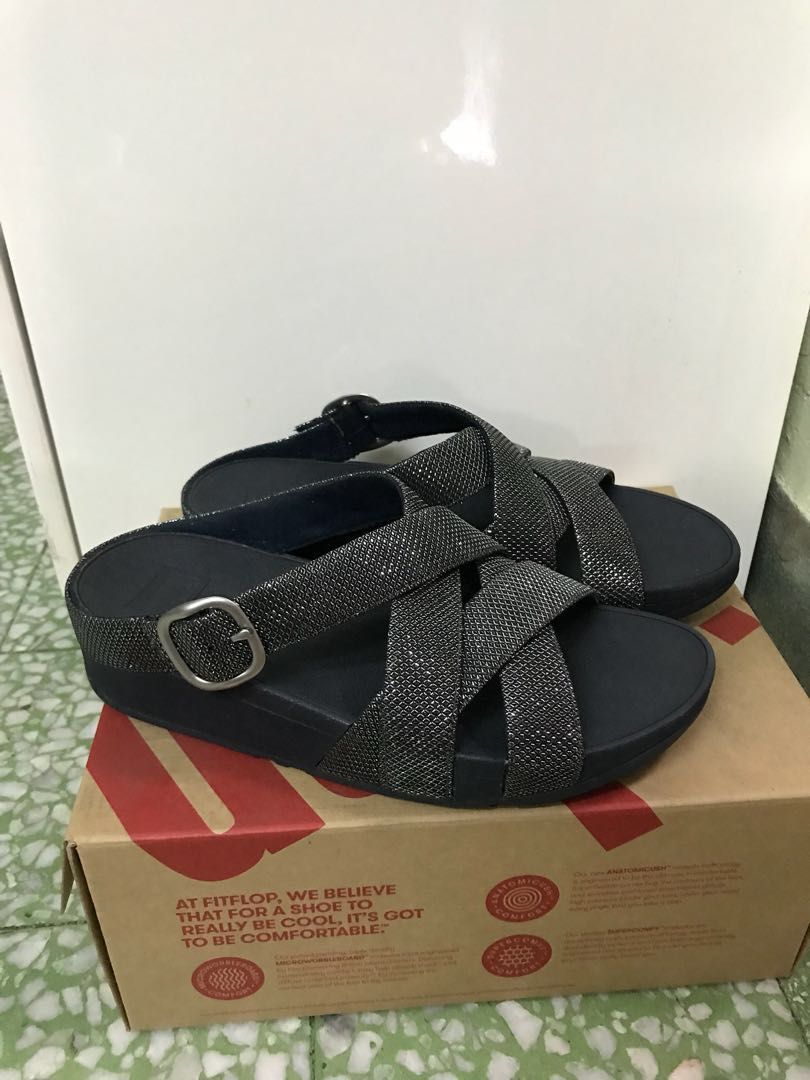 1b5c0a695aa6d0 Fitflop . Skinny Sparkle Criss-Cross Slide