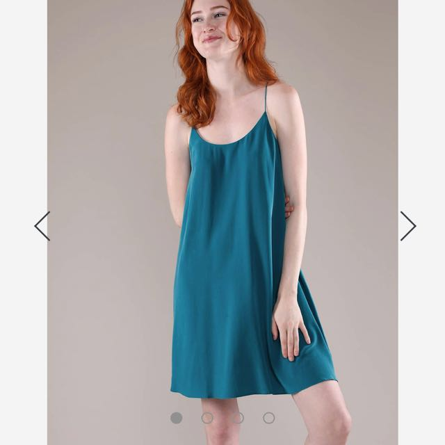 6b53db4b6ba Grana Silk Racerback Trapeze Dress