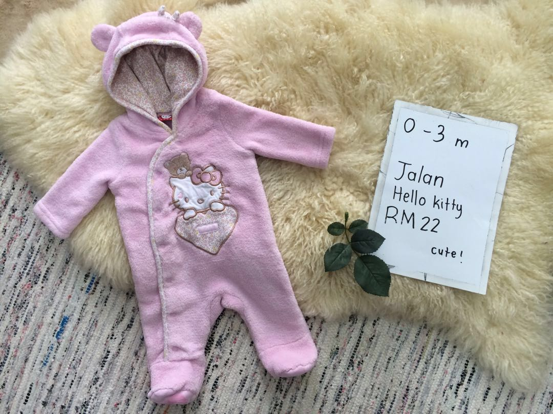 5abf6a52a Hello kitty pink baby bear fluffy costume cute sleepsuit suit, Babies &  Kids, Babies Apparel on Carousell