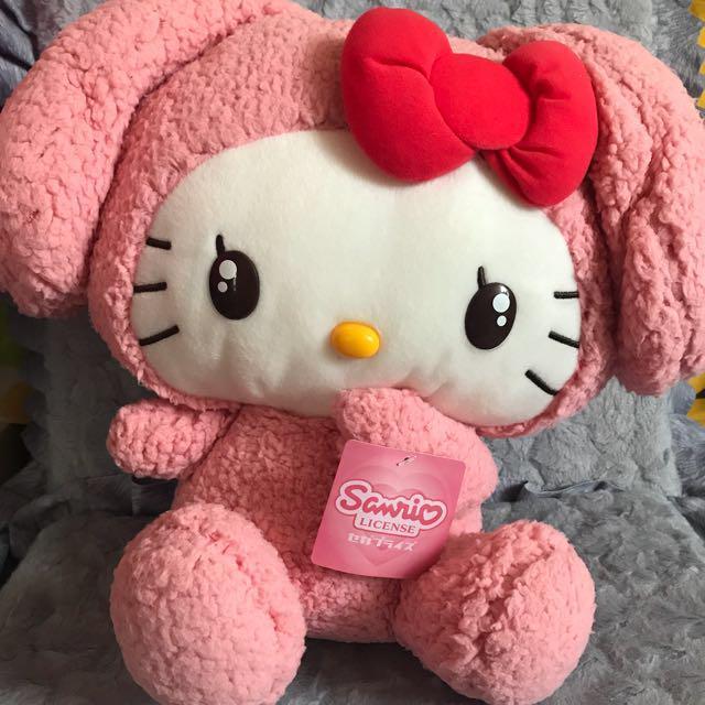 Hello Kitty X Melody 毛公仔 兔仔 SEGA