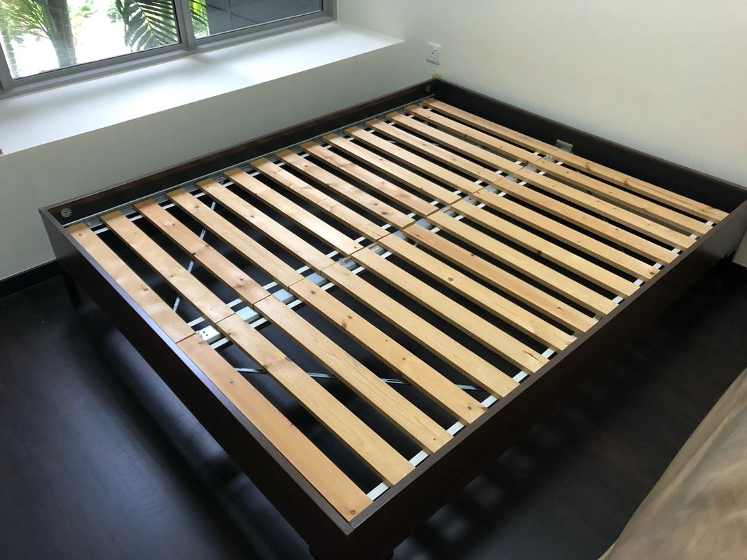 Ikea Engan Queen Bed Frame