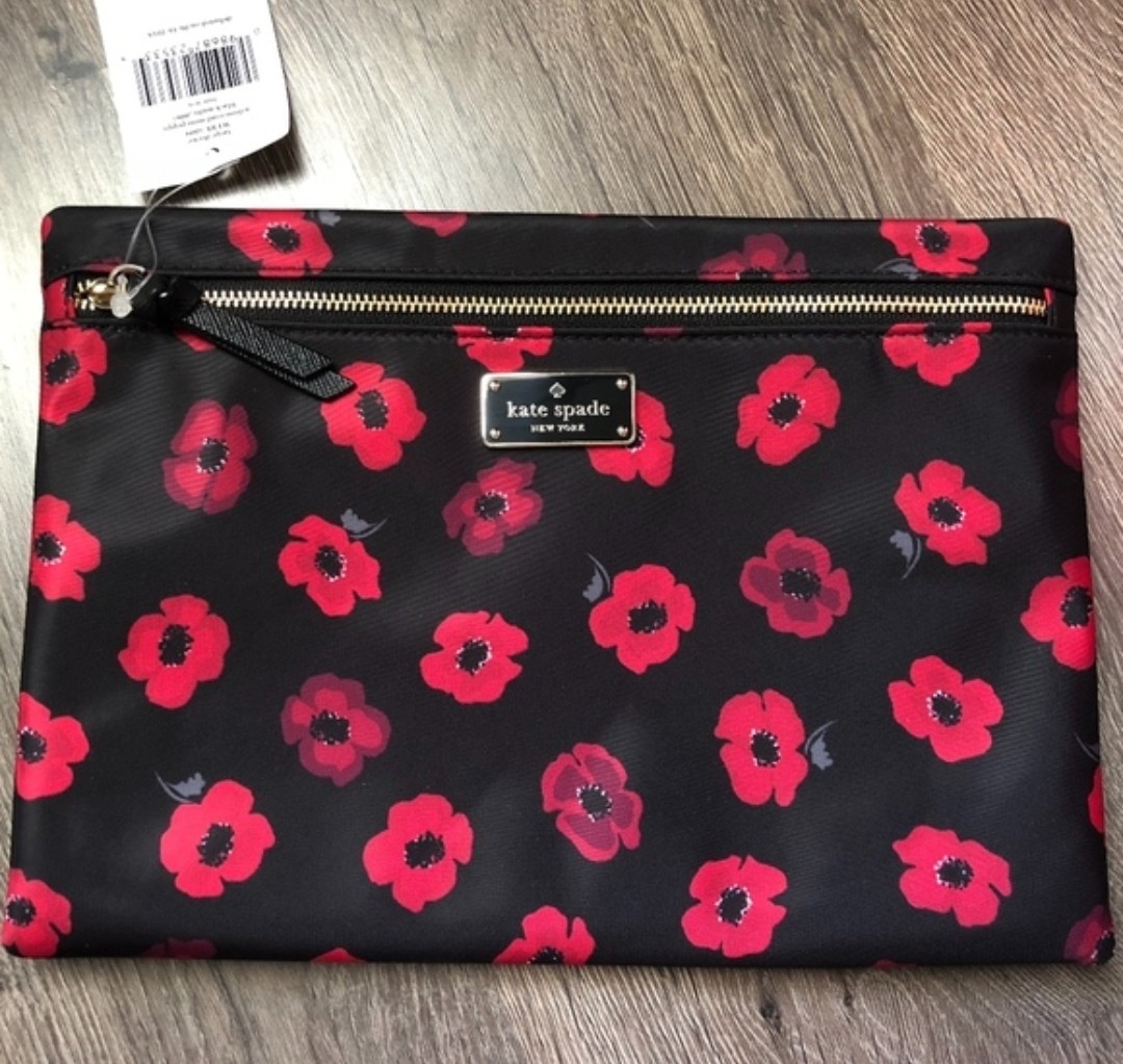 4a581c812ab609 New! Authentic Kate Spade Large Drewe Wilson Road Mini Poppy Zip ...