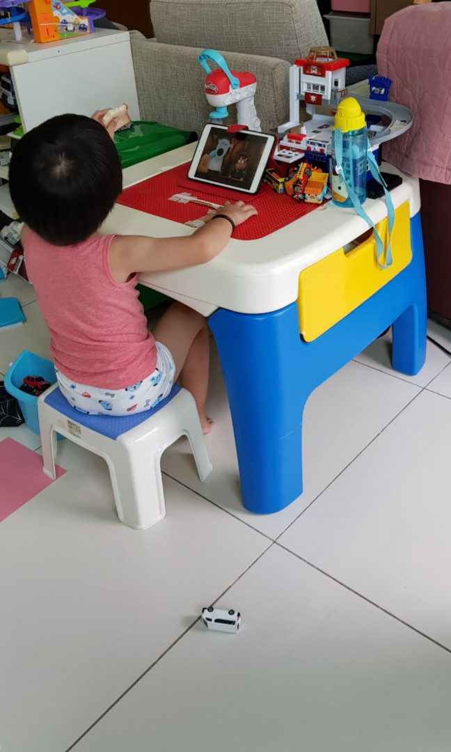 photo photo ... & Little Tikes Kids Lego Table u0026 Chair Furniture Tables u0026 Chairs on ...