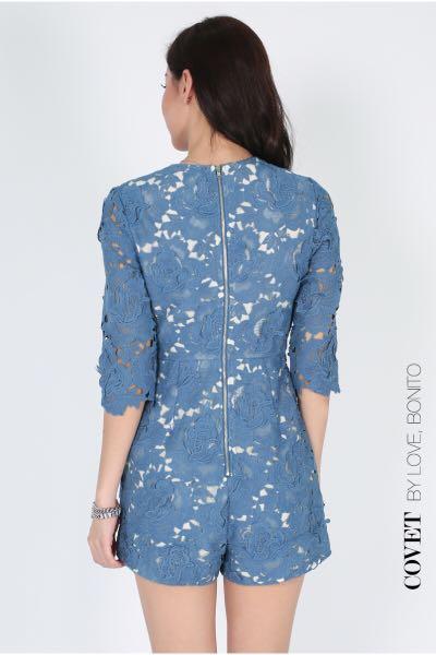 1d93fe1c220 Love Bonito Covet Obil Lace Playsuit