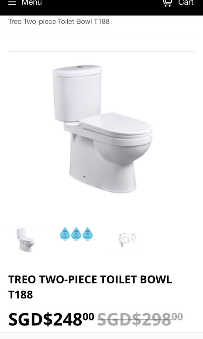 Pleasing New Treo Toilet Bowl T188From New Bto Flat Home Onthecornerstone Fun Painted Chair Ideas Images Onthecornerstoneorg