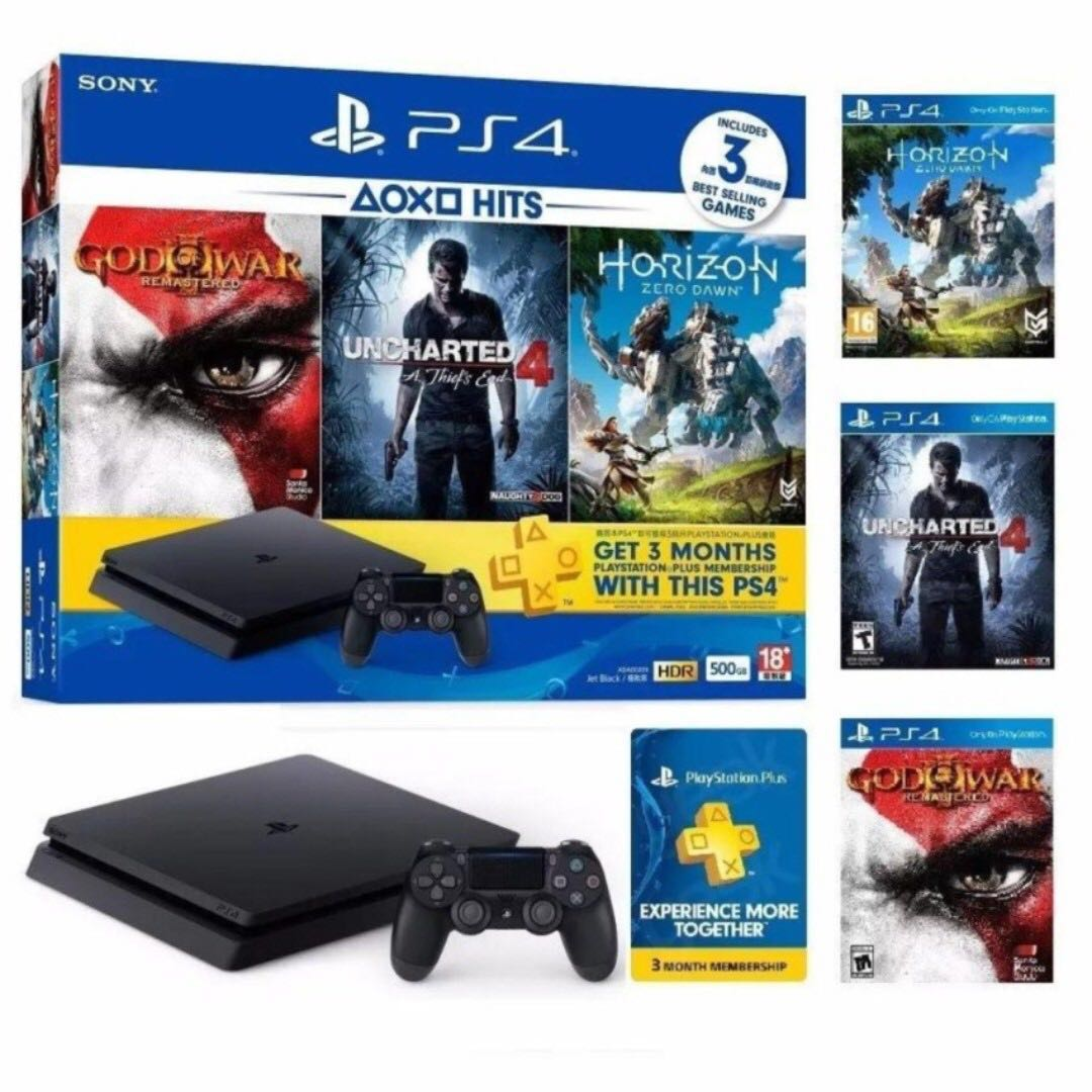 PS4 slim 500gb with many free games