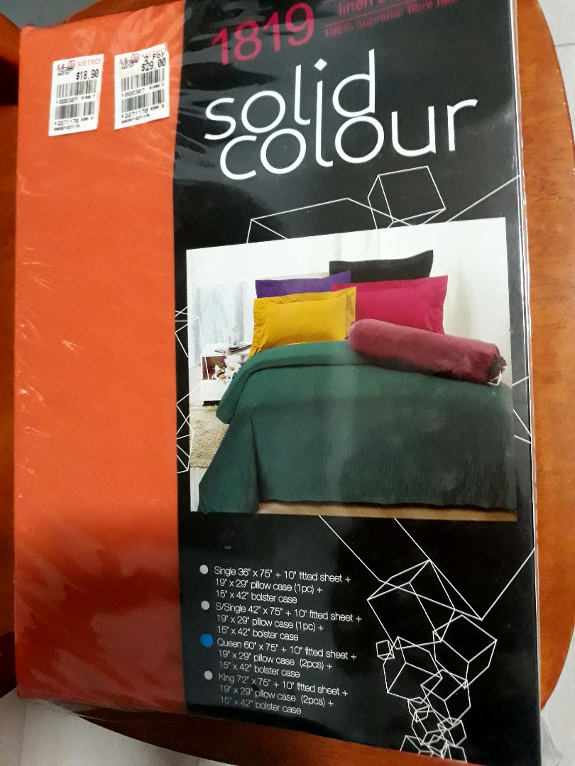 Queen Size 6075 10 Fitted Bed Sheet Pillow Cases 2