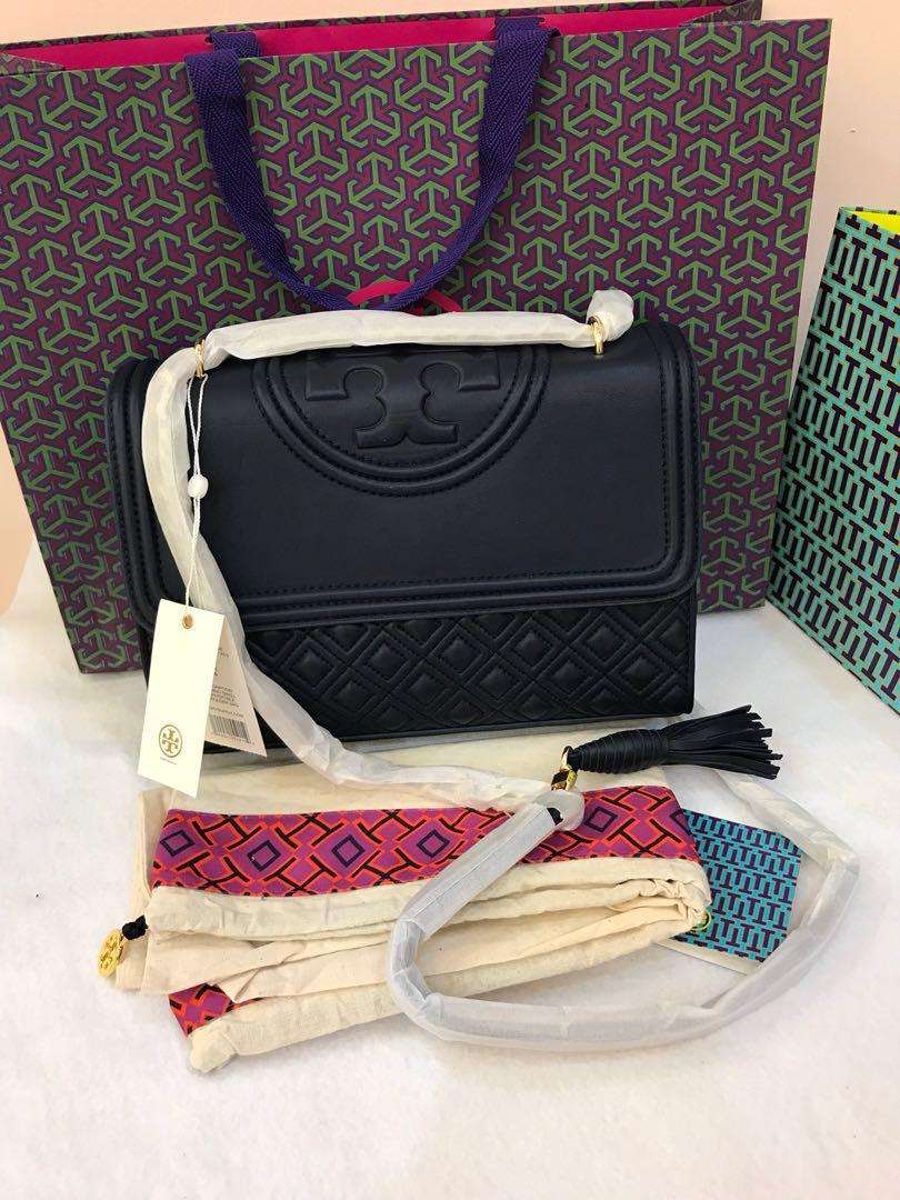 Ready Stock Authentic Tory Burch Fleming convertible tote