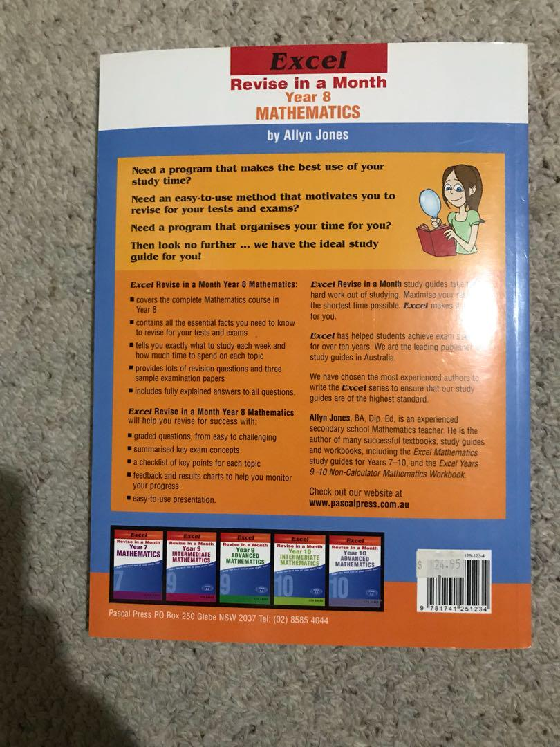 Revise in a Month Year 8 mathematics