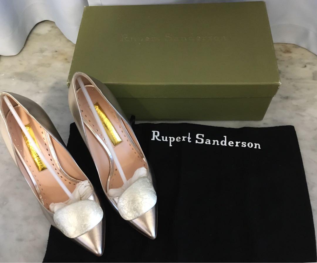 Rupert Sanderson pinka white gold champagne mirror