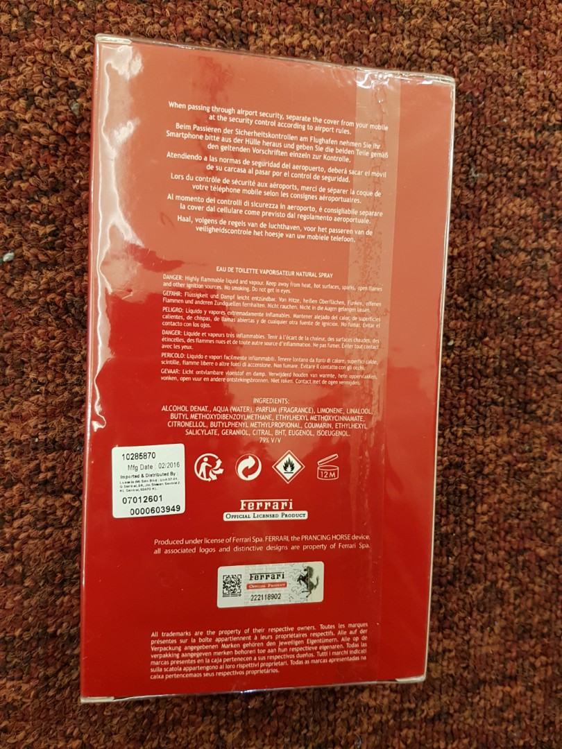Scuderia Ferrari Red Total 50ml Edt Spray Hard Case Iphone 6s