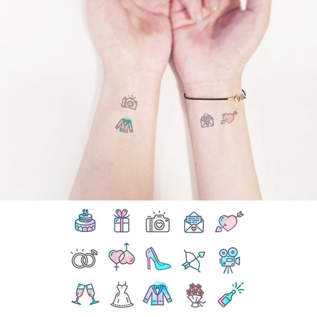 Temporary tattoo - Wedding Day, Women\'s Fashion, Accessories, Others ...