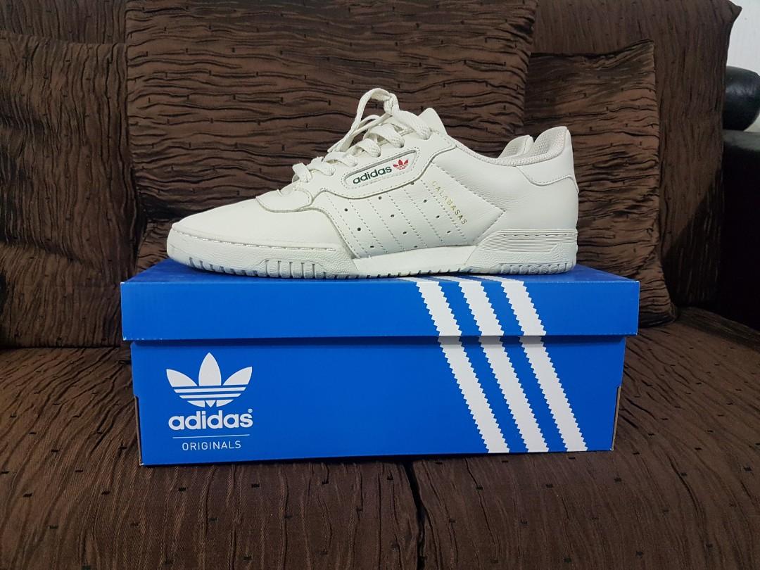 1d0635b1b UK9.5   US10 Adidas Yeezy Powerphase Calabasas OG Core White